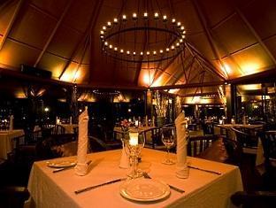 adaaran prestige ocean villas hudhuranfushi resort maldives -restaurant sunset
