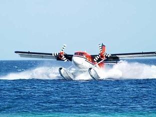 adaaran prestige water villas meedhupparu resort maldives - sea plane tranfer