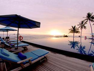 anantara veli maldives resort - pool sunset