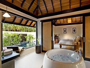 beach house waldorf astoria resort maldives - beach suite bathroom