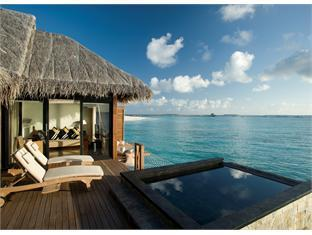 beach house waldorf astoria resort maldives - water villa