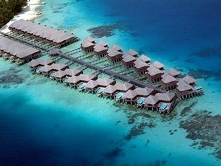 coco palm boduhithi resort maldives - aerial water villa and escapewv