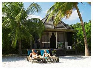 kuredu island resort maldives - sunbathing