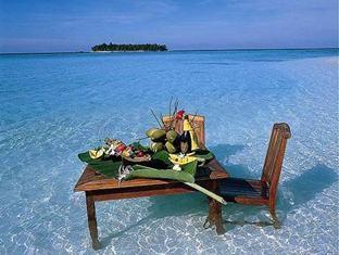 angsana resort spa ihuru maldives - sand bank dining