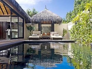 beach house waldorf astoria resort maldives - beach suite pool