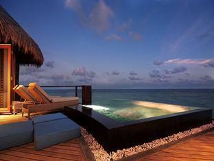 constance halaveli resort maldives - water villa at night