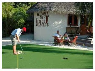 kuredu island resort maldives - golf course